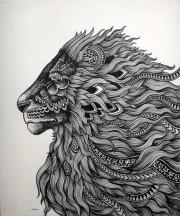 B/W LION